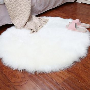 Soft Artificial Sheepskin Rug Chair Cover Bedroom