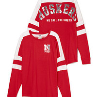 University of Nebraska Pieced Varsity Crew - PINK - Victoria's Secret