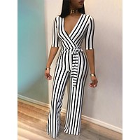 BLACK & WHITE SO RIGHT JUMPSUIT