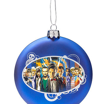Doctor Who Glass Ball Ornament