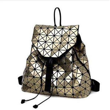 Fashion BAO BAO Women Backpack Diamond Lattice Geometry Quilted Ladies BaoBao Backpack Sac School Bag For Teenage girl baobao
