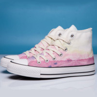 Converse Print All Star Sneakers for Unisex Hight tops sports Leisure Comfort Shoes Pink high tops