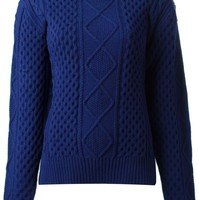 Sacai Luck contrast back cable knit sweater