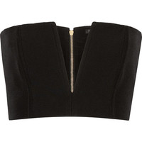 Balmain - Cropped crepe top