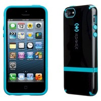 Speck CandyShell Flip Case for iPhone® 5 - Black/Peacock
