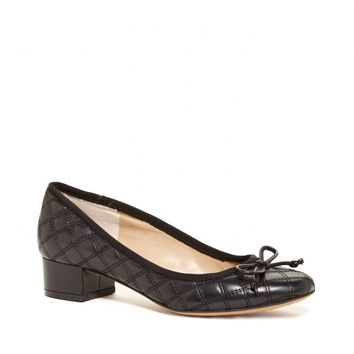 Sole Society Lizette Quilted Leather Block Heel