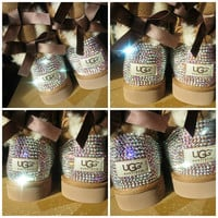 Blinged Out Chestnut Bailey Bow Uggs w/ Swarovski Crystal AB Crystals- Chestnut