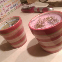 Lavender cupcake soy candle.