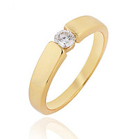 Zircon Ring 18K Gold Plated   yellow gold plated 7.75#