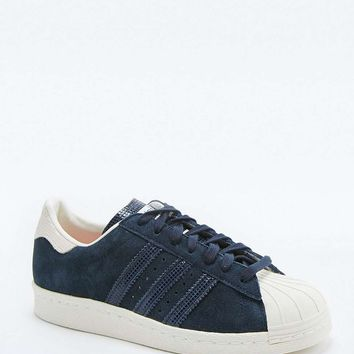 adidas Originals Navy Suede Superstar Trainers - Urban Outfitters