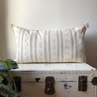 KING SIZE WASHED RUST & CREAM CACTUS SILK PILLOW COVER