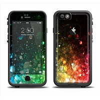 The Neon Glowing Grunge Drops Apple iPhone 6 LifeProof Fre Case Skin Set