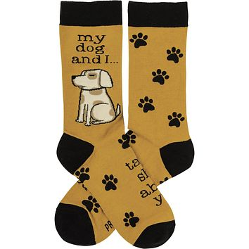 My Dog And I Talk Shit About You Socks   Funny Novelty Socks with Cool Design   Bold/Crazy/Unique Dress Socks