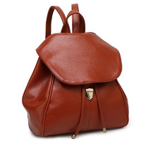 Fashion Simple Casual Leather Tassel Backpack Totes