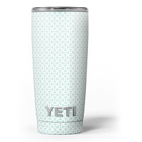 The Mint and White Axed Pattern - Skin Decal Vinyl Wrap Kit compatible with the Yeti Rambler Cooler Tumbler Cups