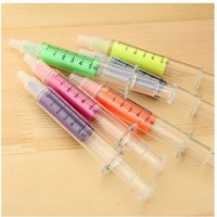 Crazy Genie Syringe Highlighter Pens with 6 Colors