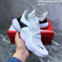DCCK2 N985 Wmns Nike 2019 Free Rn Flyknit 5.0 Running Shoes White