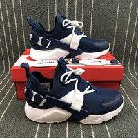 Nike Air Huarache City Low Navy Low Running Shoes Sneakers