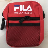 FILA 2018 new men and women trend fashion leisure backpack F-A30-XBSJ Red