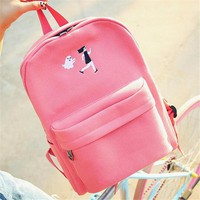 Student Backpack Children Funny embroidery printing backpack junior high school students schoolbag laptop bag back pack schoolbag for girls gift M111 AT_49_3