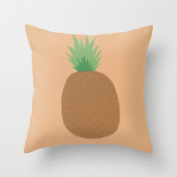 eat healty project- pineapple art print Throw Pillow by kongkongdigital