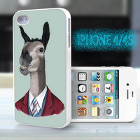 unique iphone case,glitter i phone 4 4s case,cool cute iphone4 iphone4s case cover,stylish  plastic rubber cases, animal funny donkey  bp933