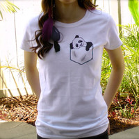 Panda Pocket Tee by BeesPocketTees on Etsy