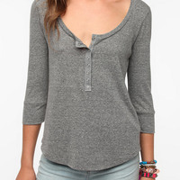 Urban Outfitters - Daydreamer LA Snap Front Henley Tee