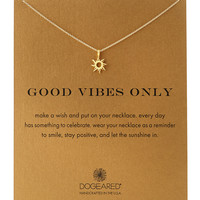 Gold-Dipped Good Vibes Necklace - Dogeared - Gold