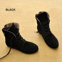 Anna&zero® 9 Colors Fashion Womens Girls Lace up Suede Ankle Boots Flat Winter Autumn Boots