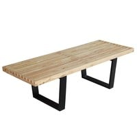 """Solid Wood Bench 48"""", Natural"""