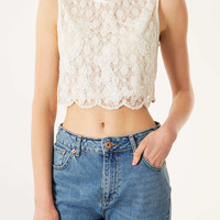 Daisy Sequin Lace Crop Top - New In This Week - New In - Topshop USA