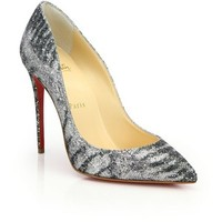 Christian Louboutin Pigalle Glittered Animal-Print Pumps