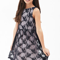 FOREVER 21 GIRLS Floral Lace A-Line Dress (Kids)