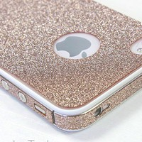 Cool Sand colour Shiny Rhinestone Full Body Cover Skin Sticker Shield For iPhone 4/4S/5