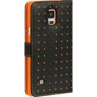 DW Premium Flip Stand Moda Dots Galaxy Note 4 Wallet Case - Orange
