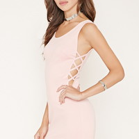Cutout-Side Bodycon Mini Dress