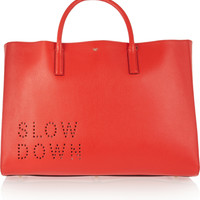 Anya Hindmarch - Ebury Maxi Slow Down perforated leather tote