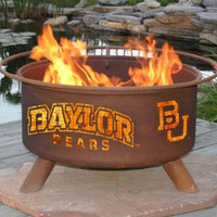 BU Baylor University Bears NCAA Portable Outdoor Grilling Fire Pit