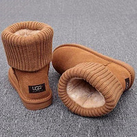 UGG Plush Leather Boots Boots In Tube Shoes Boots Shoes-1