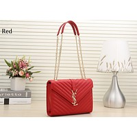 YSL Yves Saint Laurent 2018 new street fashion wild fashion shoulder bag chain bag red
