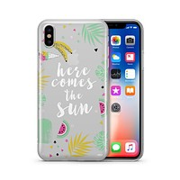 Here Comes The Sun - Clear TPU - iPhone Case