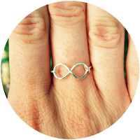 Infinity Ring - Wire Ring - Love Knot Ring - Dainty Jewelry - Weddings - BFF Ring