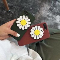 Sunflower Make up Mirror Case for iPhone X 8 7 6S Plus &Gift Box