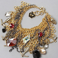 Karmaloop.com - Global Concrete Culture - The Mesh Chains Bracelet in Multicolor by Disney Couture Jewelry
