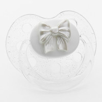White Bow Pacifier