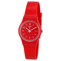 Swatch Red Pretty Sexy Red Dial Red Silicone (Double Wrap) Ladies Watch LR127