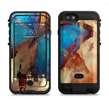 The Bright Blue Butterfly on Grunge Gold Surface  iPhone 6/6s Plus LifeProof Fre POWER Case Skin Kit