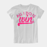Girls' All I Do Is Win Graphic T-Shirt | 1246002 | Under Armour US