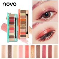 NOVO Fashion Shimmer eyeshadow palette 10 Colors Matte EyeShadow naked palette Glitter eye shadow MakeUp Nude MakeUp Cosmetics